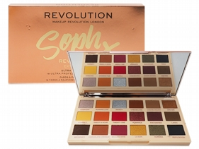 英國 Makeup Revolution~Soph聯名款18色眼影盤(18x0.03oz/0.8g)