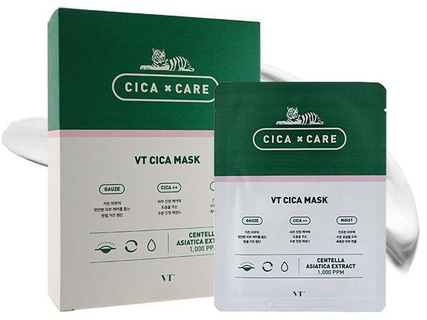 韓國 VT~CICA老虎積雪草面膜(25gx10片入)【D620781】