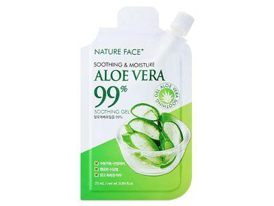 韓國 Nature Face~99%蘆薈保濕舒緩凝膠25ml 攜帶包/隨身包