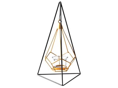 北歐風簡約幾何金屬燭台擺飾1入(三角款)