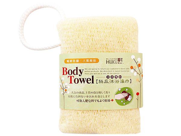 HUKUKU 福可~沐浴絲瓜澡巾(1入)【D370248】