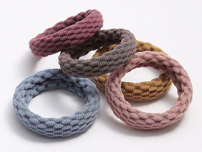 無接縫簡約髮繩(4入)