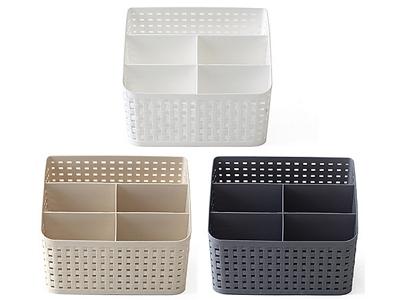 多格桌面收納置物盒/刷具收納盒(1入) 顏色隨機出貨