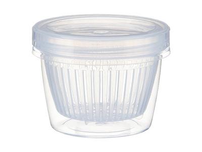 配料瀝水保鮮盒(圓形)1入 顏色隨機出貨
