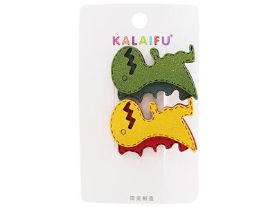 Dadaisun~KALAIFU皮藝恐龍壓夾(#171綠黃)2入