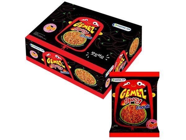 韓國 Enaak~香脆點心麵-辣味(14g*30包)盒裝【D004179】小雞麵