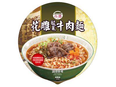 台灣菸酒~花雕酸菜牛肉麵(200g)碗麵