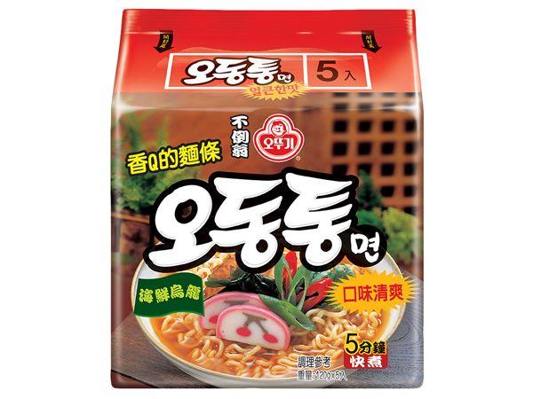 韓國不倒翁~海鮮風味烏龍拉麵(120gx5包)整袋裝【D522944】泡麵/進口/團購