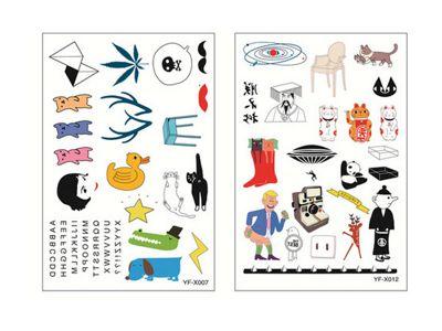 夏日可愛紋身貼紙(1張入) 多款可選