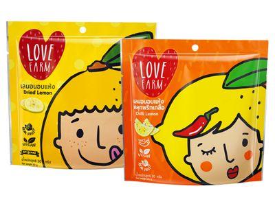 泰國 LOVE FARM~原味/辣味檸檬乾(30g) 款式可選