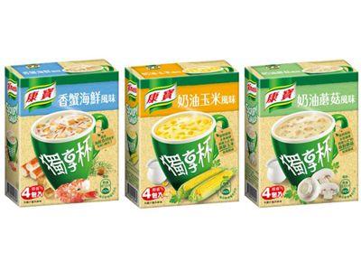康寶-獨享杯濃湯1盒4包入 香蟹海鮮/奶油玉米/奶油蘑菇