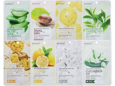 韓國EUNYUL~面膜(單片22ml) 蘆薈/蝸牛/Q10/綠茶/膠原蛋白/馬油  多款可選