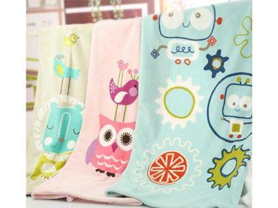 Mini Love~珊瑚毯(1件入) 粉藍機器人/咖啡獅/粉紅貓頭鷹  3款可選