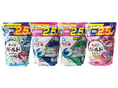 日本P&G~第三代3D洗衣膠球(大補充包44顆入) 白葉花香/淨白抗菌/清新消臭/牡丹花香 4款可選