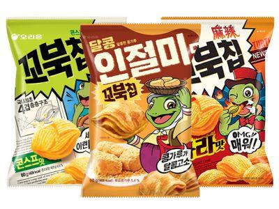 韓國 好麗友~烏龜玉米脆餅(65g) 多款可選