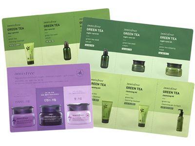 韓國 Innisfree~濟州綠茶/寒蘭3件旅行組(1片入) 4款可選