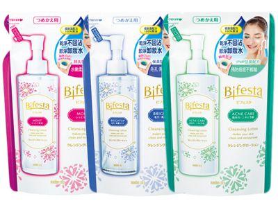 MANDOM~Bifesta 保濕/抗暗沉/抗痘 即淨卸妝水(補充包)270ml~3款可選