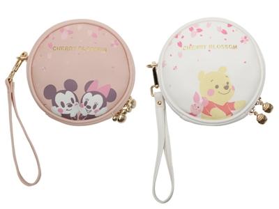 Disney 迪士尼櫻花系列化妝包(1入) 小熊維尼/米奇米妮 款式可選