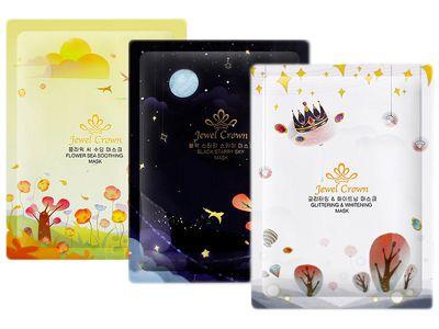 韓國 Jewel Crown~星空面膜(單片25g) 花海舒緩/黑色星空/璀璨提亮  款式可選