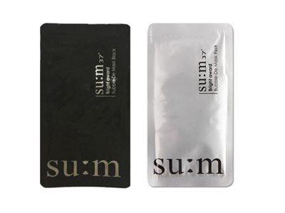 韓國 su:m 37~呼吸泡沫面膜(3ml)黑色/三合一氧氣泡泡面膜(4.5ml) 白色 2款可選