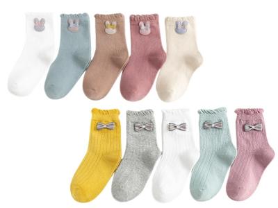 日系甜美花邊兒童中筒襪(5雙入) 款式可選