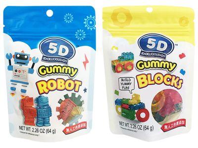 TOY CLUB~5D機器人/積木 造型軟糖(64g) 款式可選