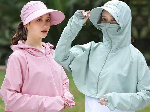 連帽遮陽休閒式披肩外套(1入) 顏色可選【D021478】
