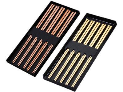 SkinApple~不鏽鋼典雅筷子禮盒組(5雙入) 顏色可選