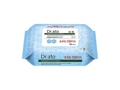 韓國 Dr.ato~手口通用濕紙巾(隨身包)20抽