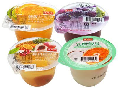 盛香珍~橘瓣鮮果凍/綜合鮮果凍/葡萄多果實/乳酸優果(180g) 款式可選