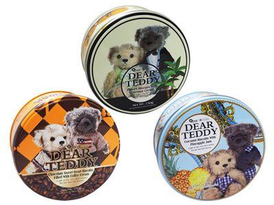 DEAR TEDDY 親愛的泰迪~夾心餅乾(150g)  椰子口味/咖啡口味/鳳梨口味 款式可選
