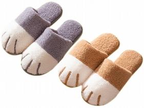 秋冬可愛貓爪造型保暖拖鞋(1雙入)顏色/尺寸可選