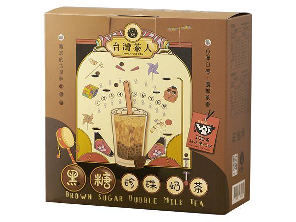 台灣茶人~黑糖珍珠奶茶(5份入) 【DS000076】