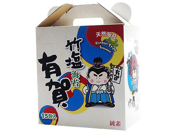 有賀韓式竹鹽海苔禮盒(15入)【DS001294】※限宅配